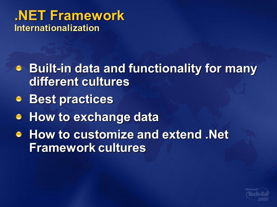 .NET Framework Internationalization
