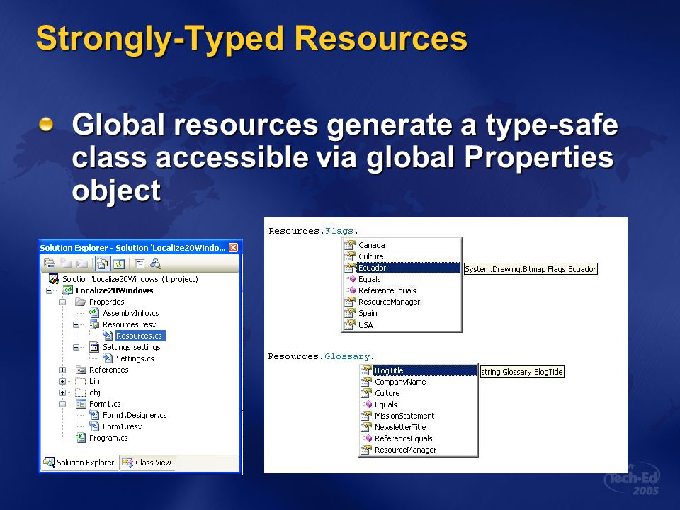 Strongly-Typed Resources
