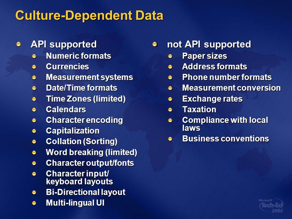 Culture-Dependent Data