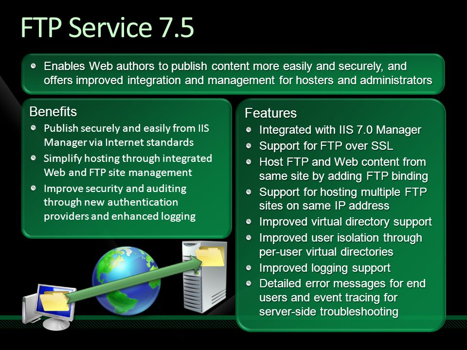 FTP Service 7.5 Benefits Features