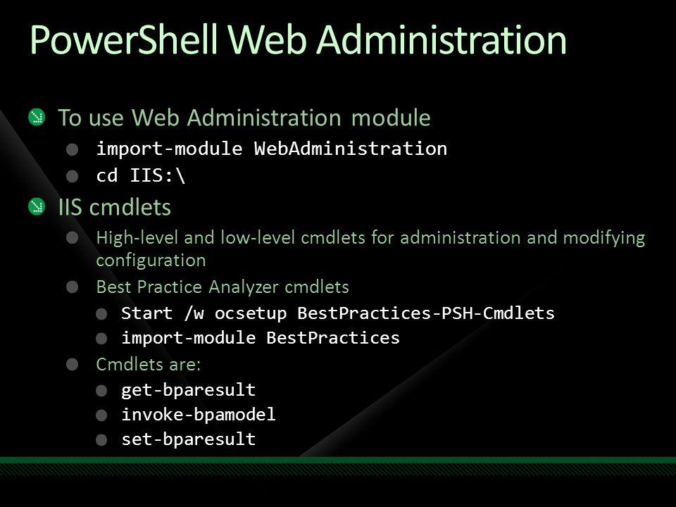PowerShell Web Administration