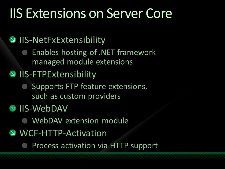 IIS Extensions on Server Core