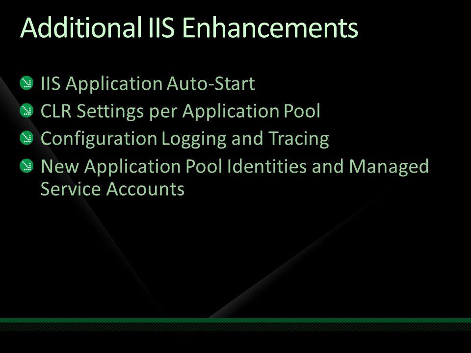 Additional IIS Enhancements