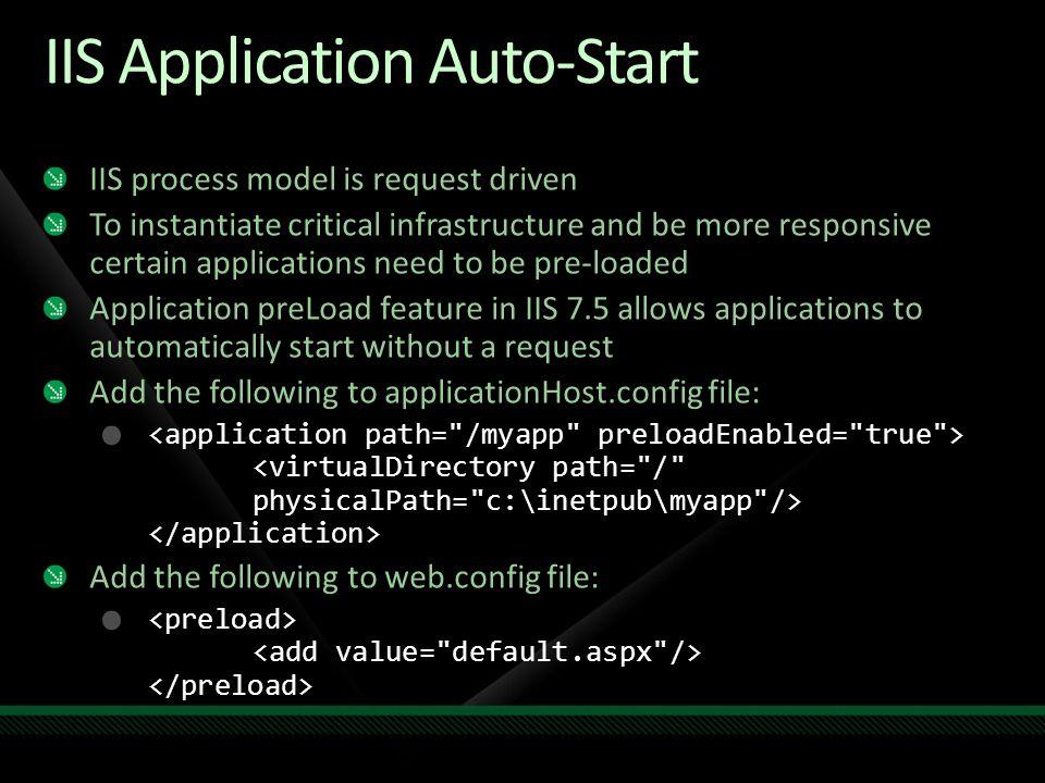 IIS Application Auto-Start