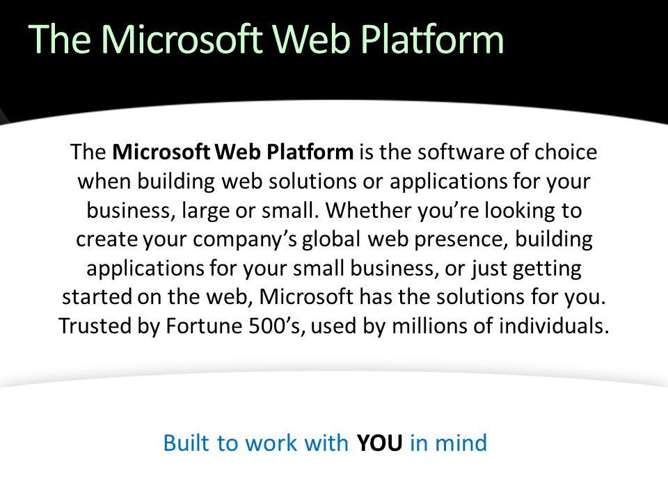 The Microsoft Web Platform