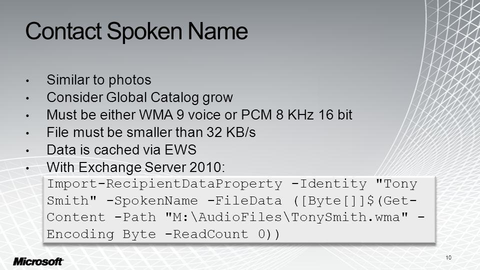 Contact Spoken Name Similar to photos Consider Global Catalog grow