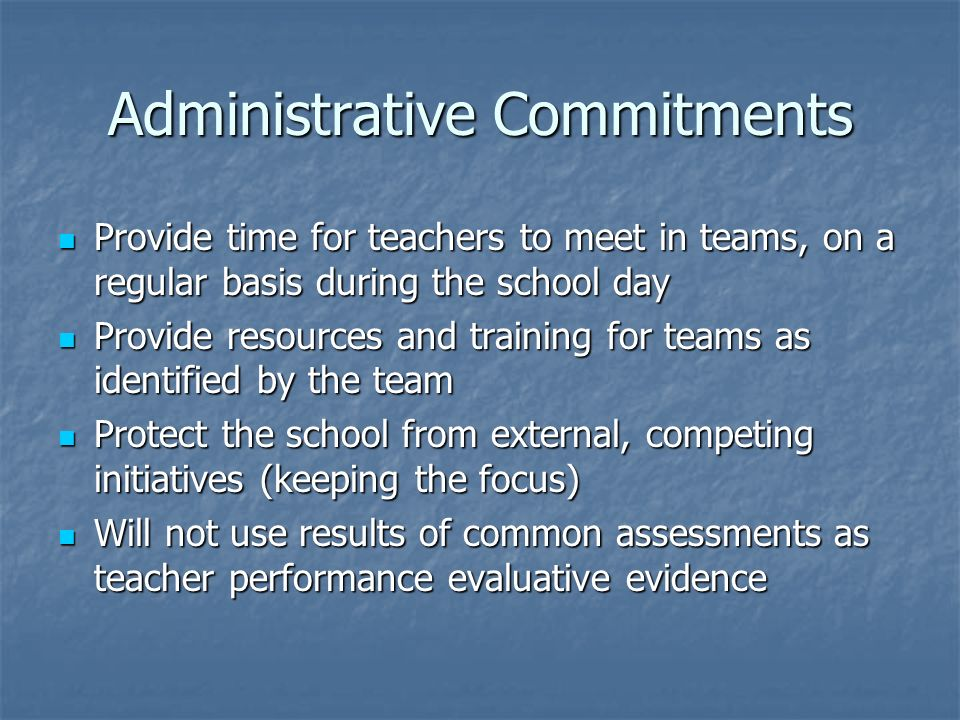 Administrative Commitments