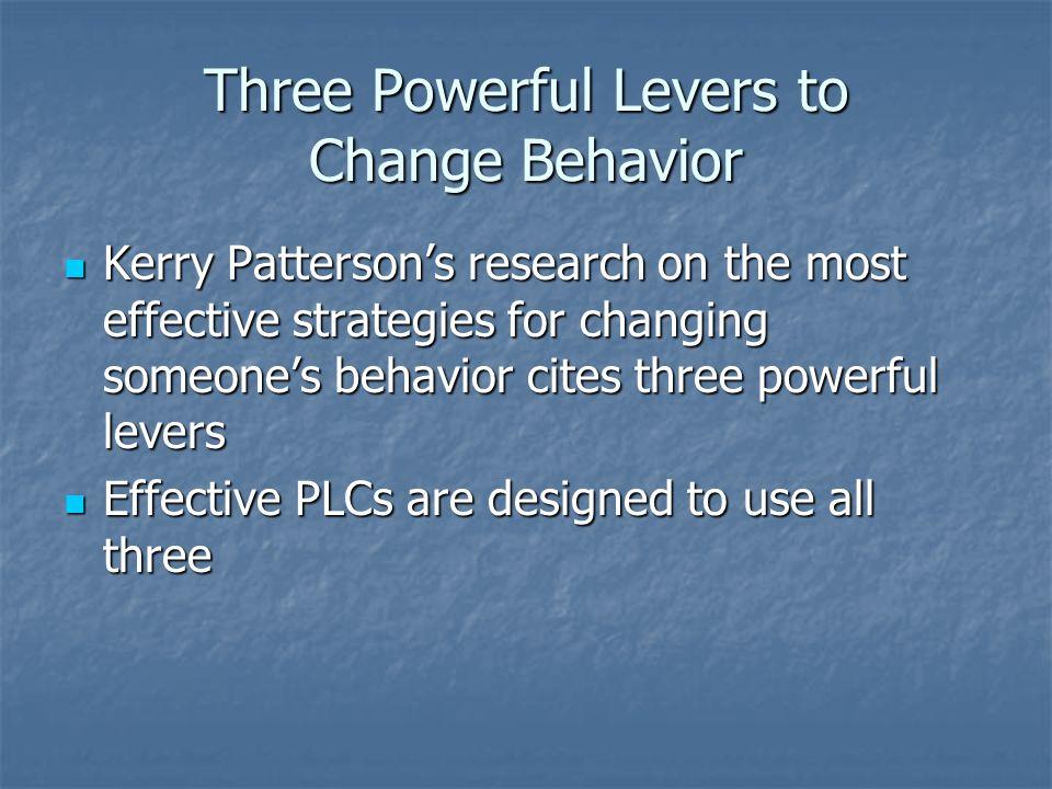 Three Powerful Levers to Change Behavior