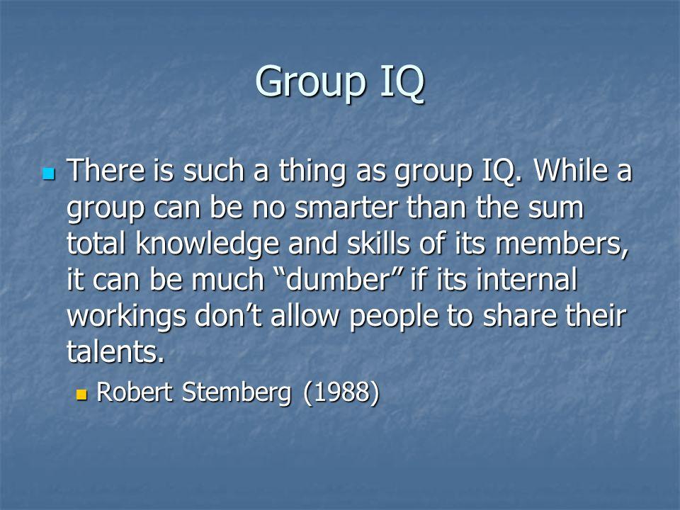 Group IQ