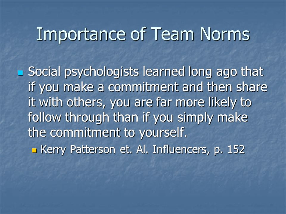 Importance of Team Norms