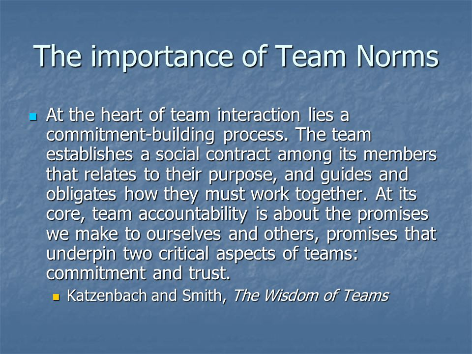 The importance of Team Norms