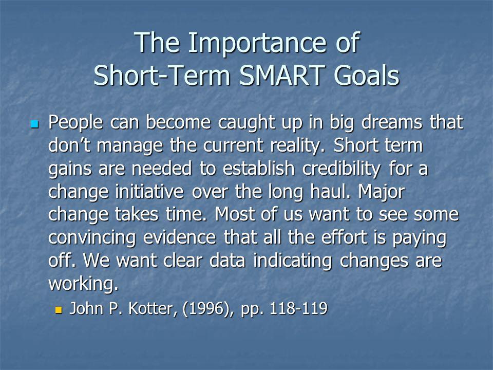 The Importance of Short-Term SMART Goals
