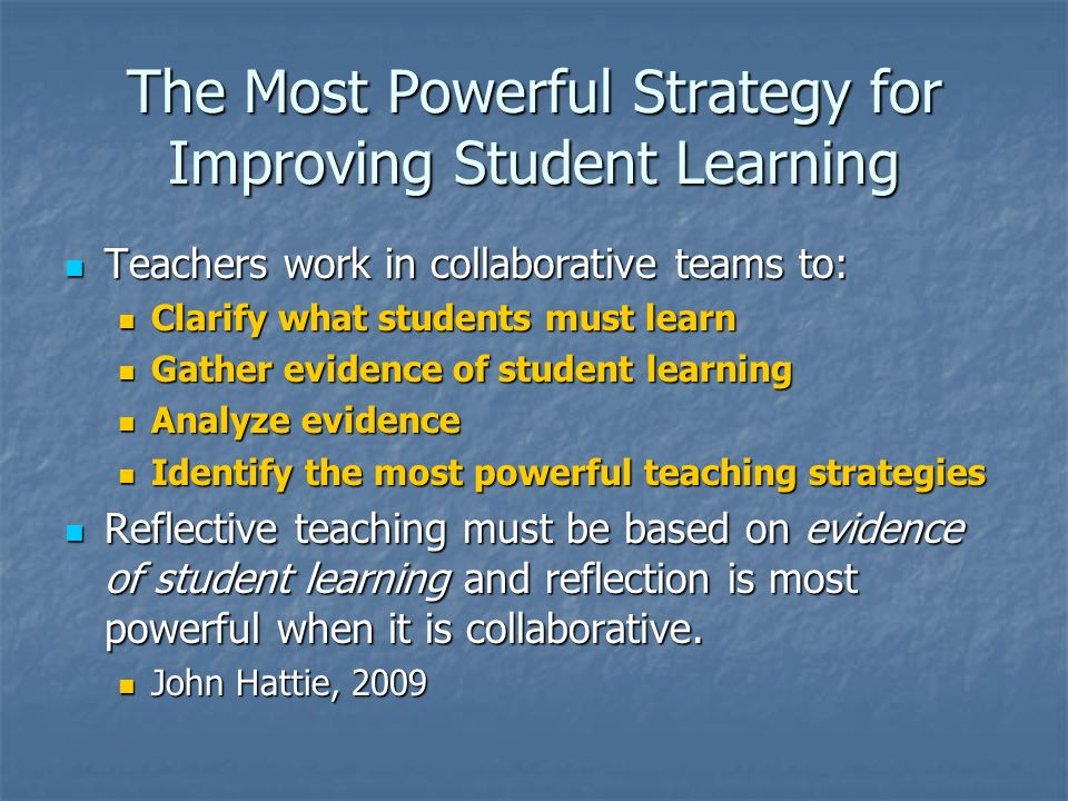 The Most Powerful Strategy for Improving Student Learning