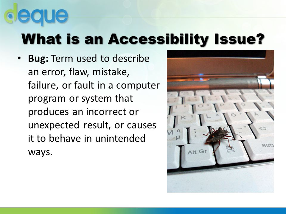 What is an Accessibility Issue