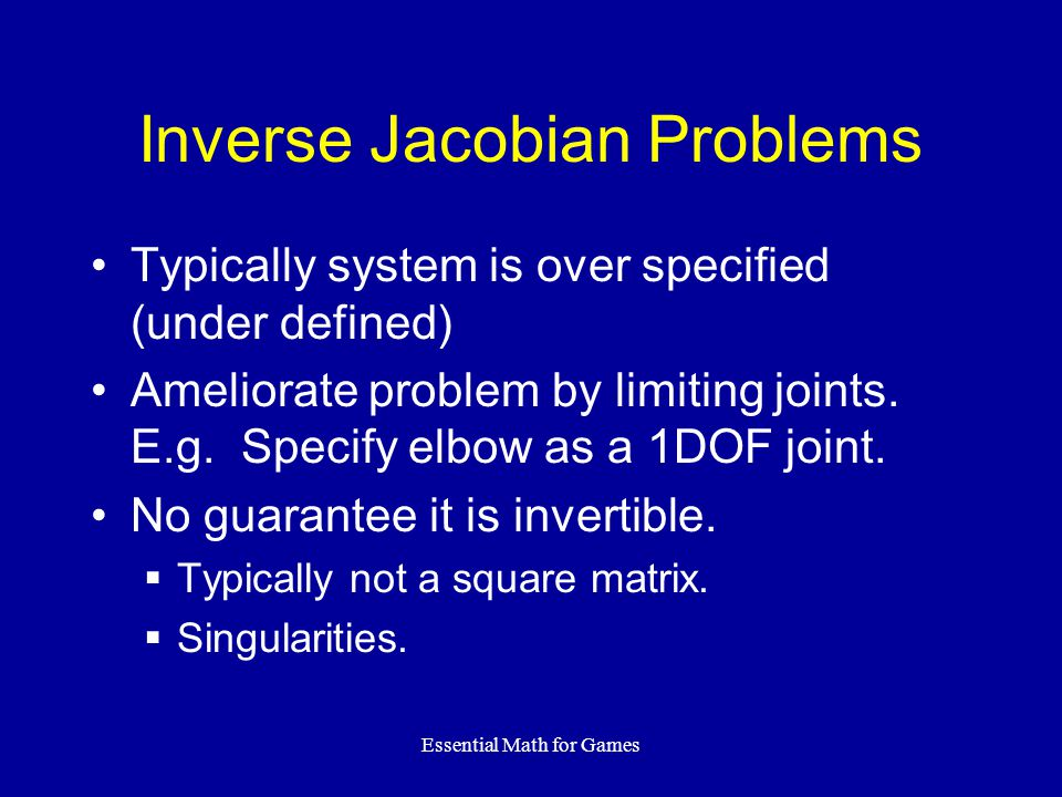 Inverse Jacobian Problems