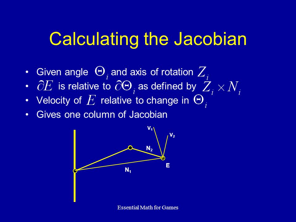 Calculating the Jacobian