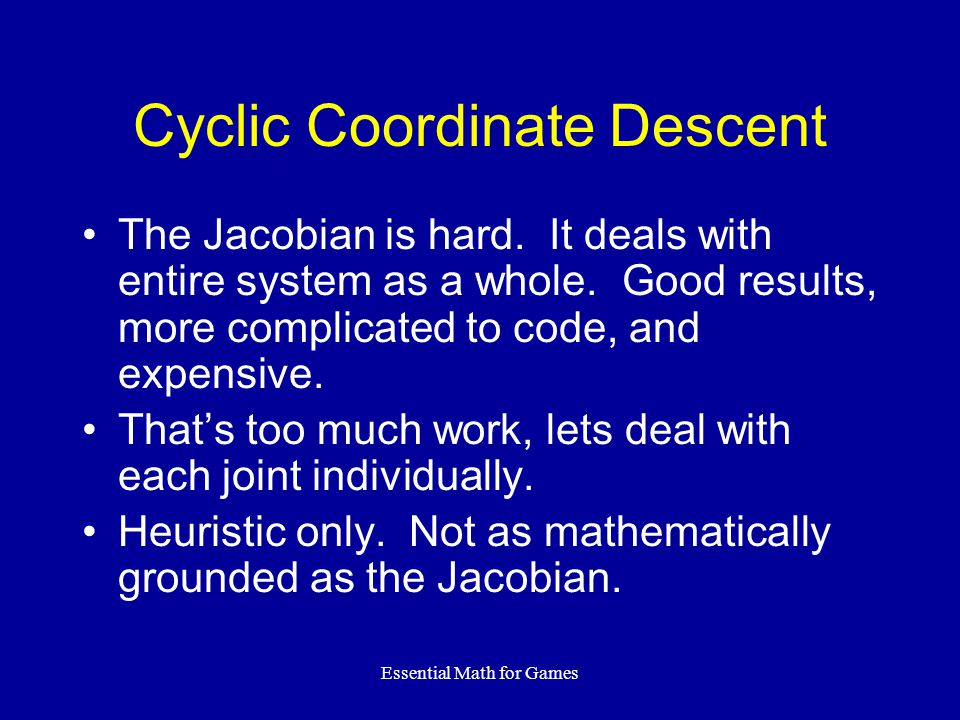 Cyclic Coordinate Descent