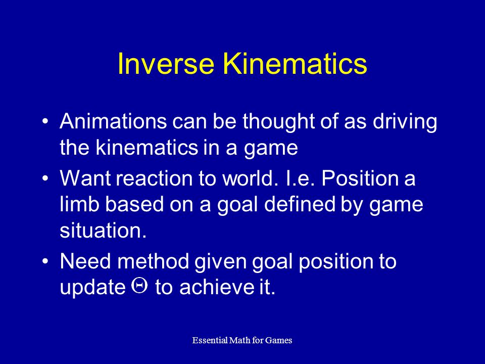 Essential Math for Games