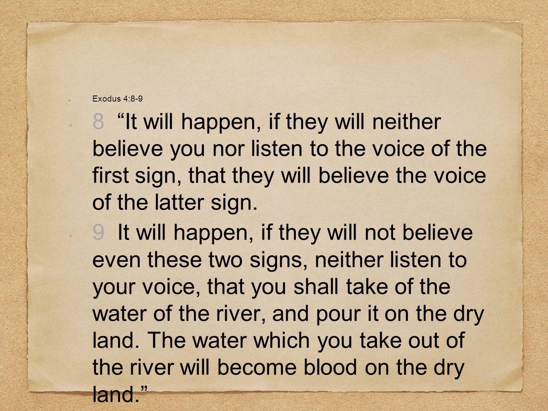 Exodus 4:8-9