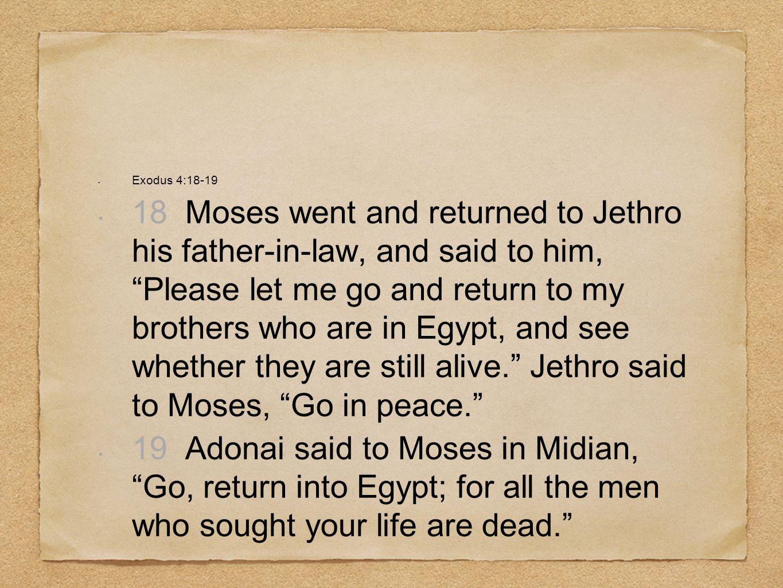 Exodus 4:18-19