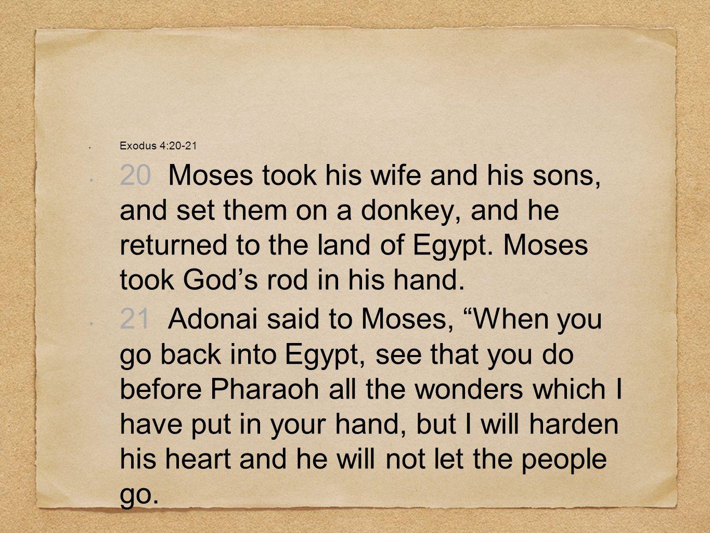Exodus 4:20-21