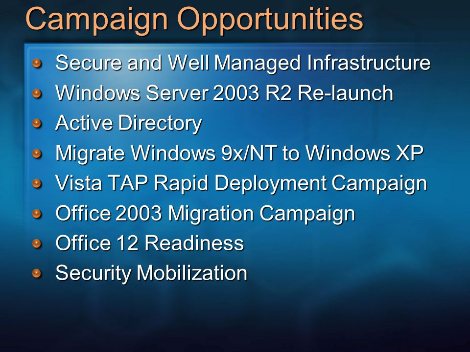 Campaign Opportunities