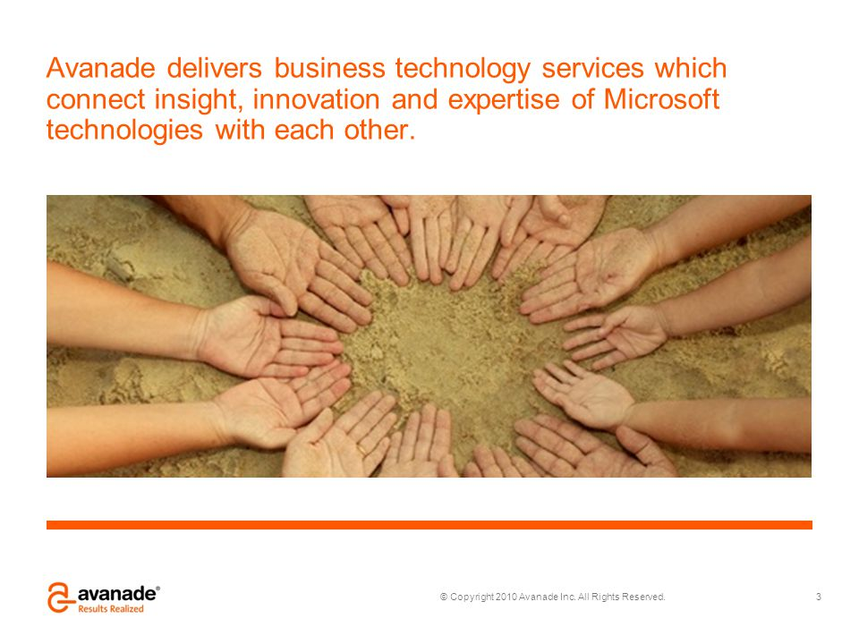 Avanade delivers business technology services which connect insight, innovation and expertise of Microsoft technologies with each other.