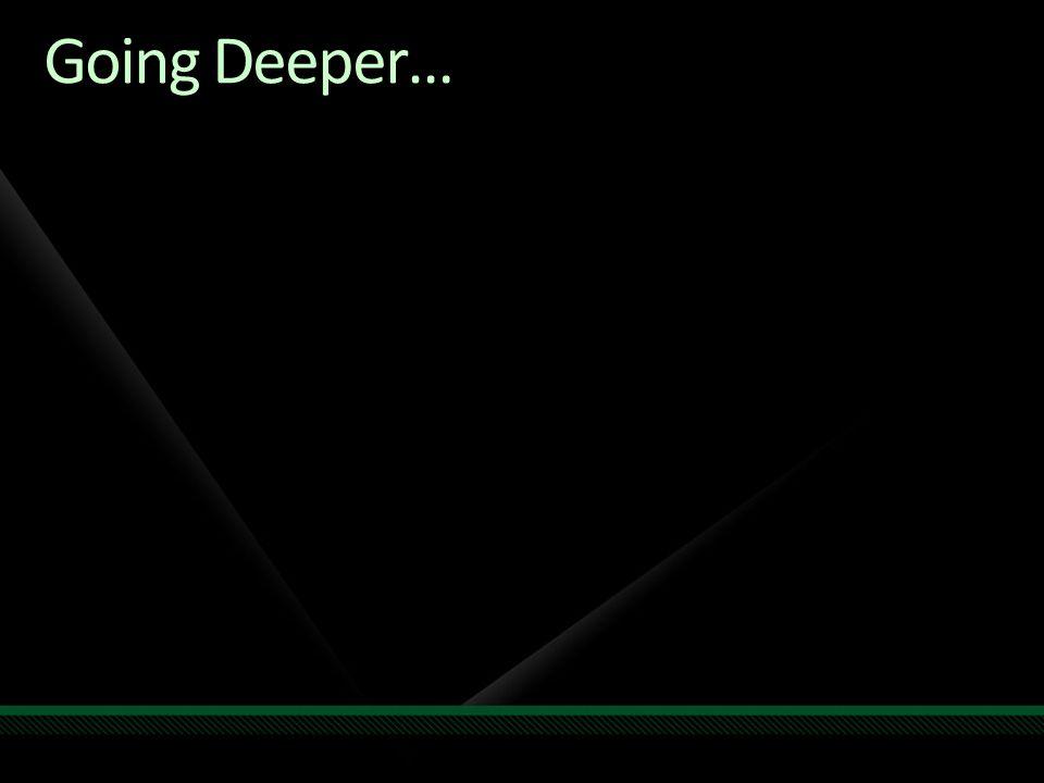 Going Deeper…