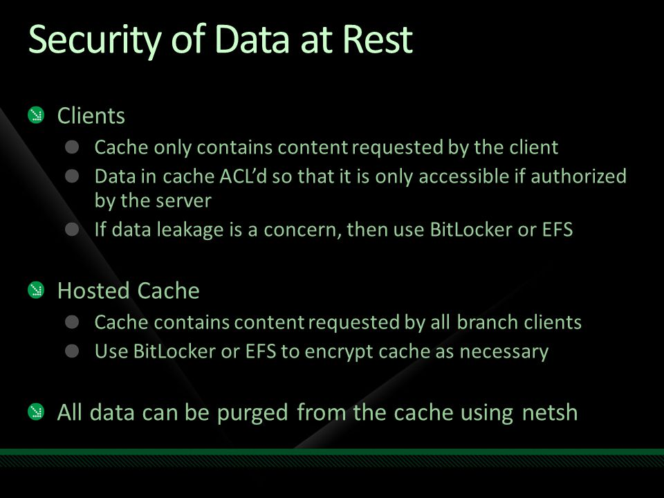 Security of Data at Rest