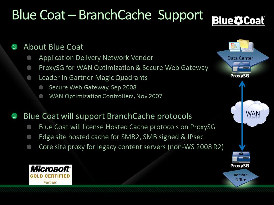 Blue Coat – BranchCache Support