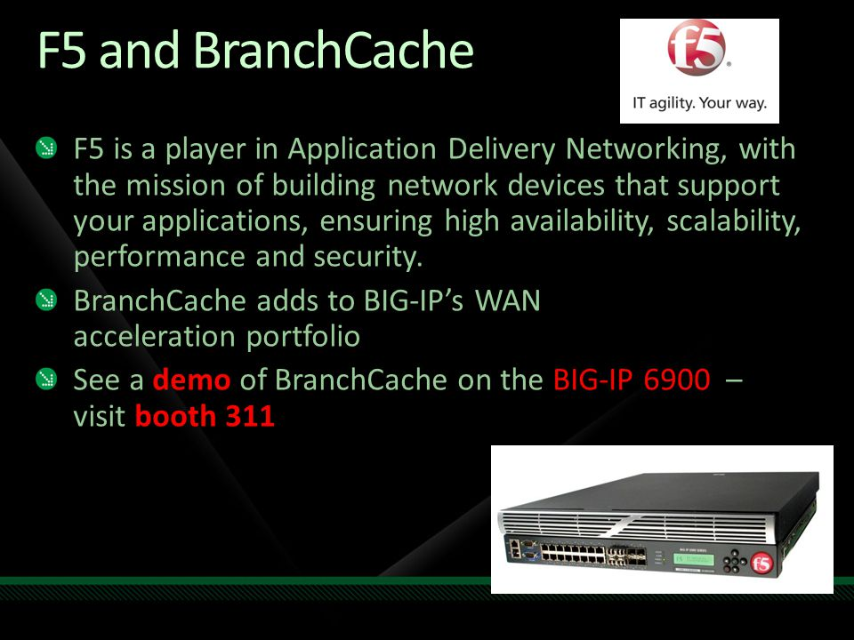 F5 and BranchCache
