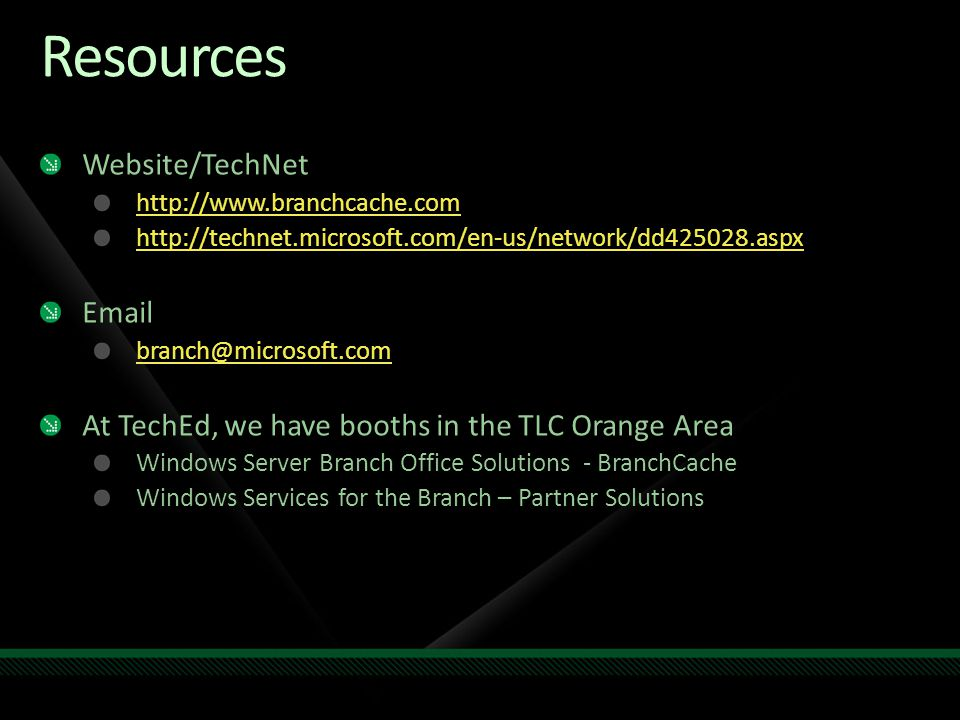 Resources Website/TechNet Email