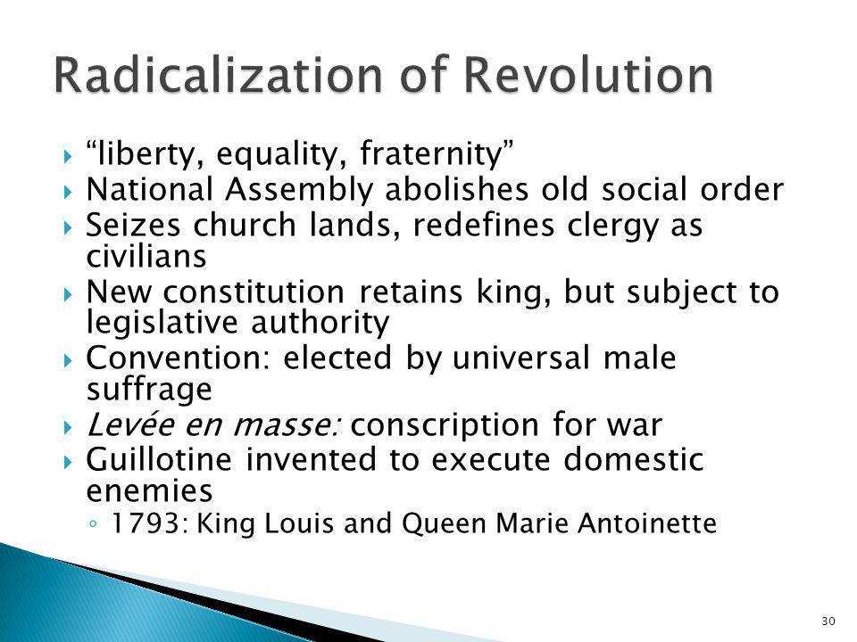 Radicalization of Revolution