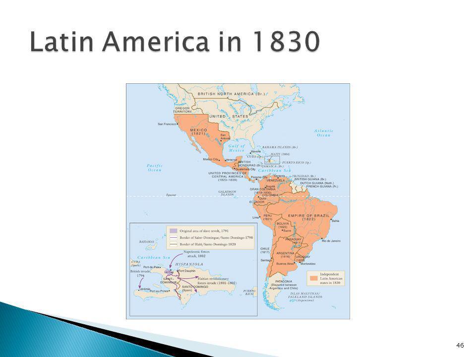 Latin America in 1830