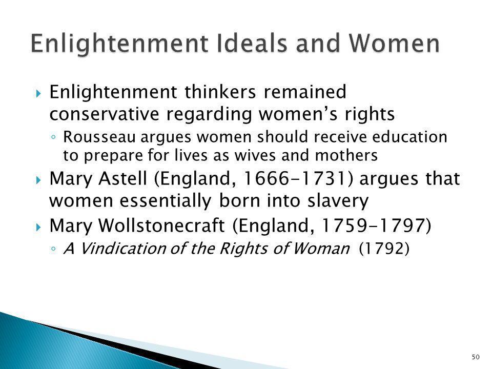Enlightenment Ideals and Women
