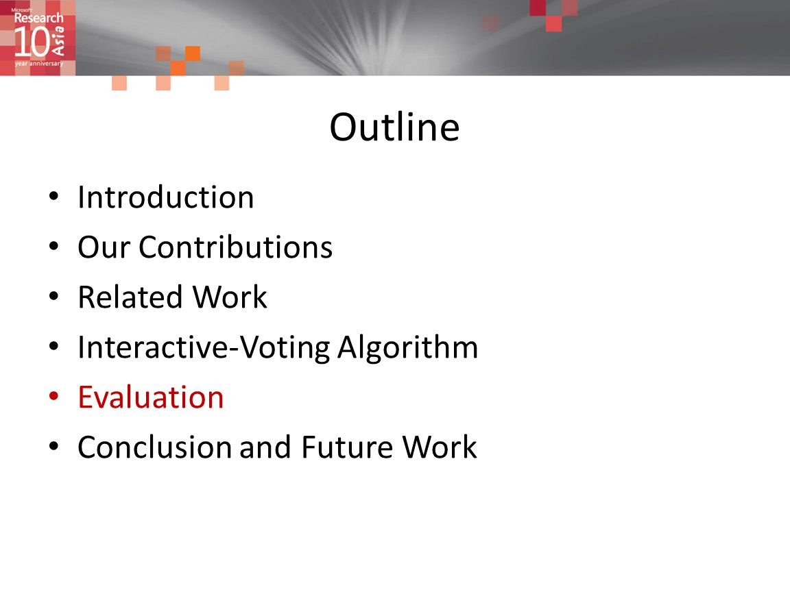 Outline Introduction Our Contributions Related Work