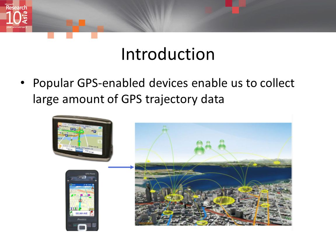 Introduction Popular GPS-enabled devices enable us to collect large amount of GPS trajectory data