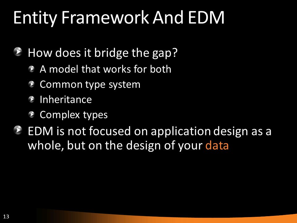 Entity Framework And EDM