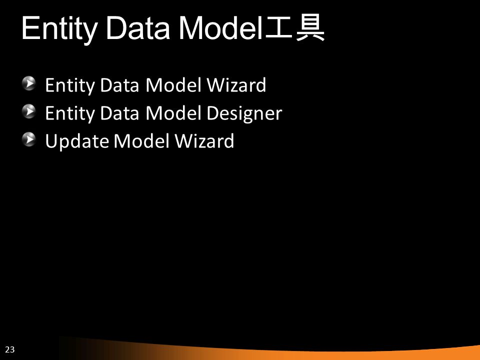 Entity Data Model工具 Entity Data Model Wizard