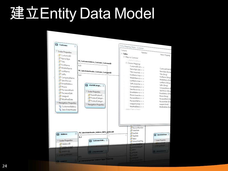 建立Entity Data Model