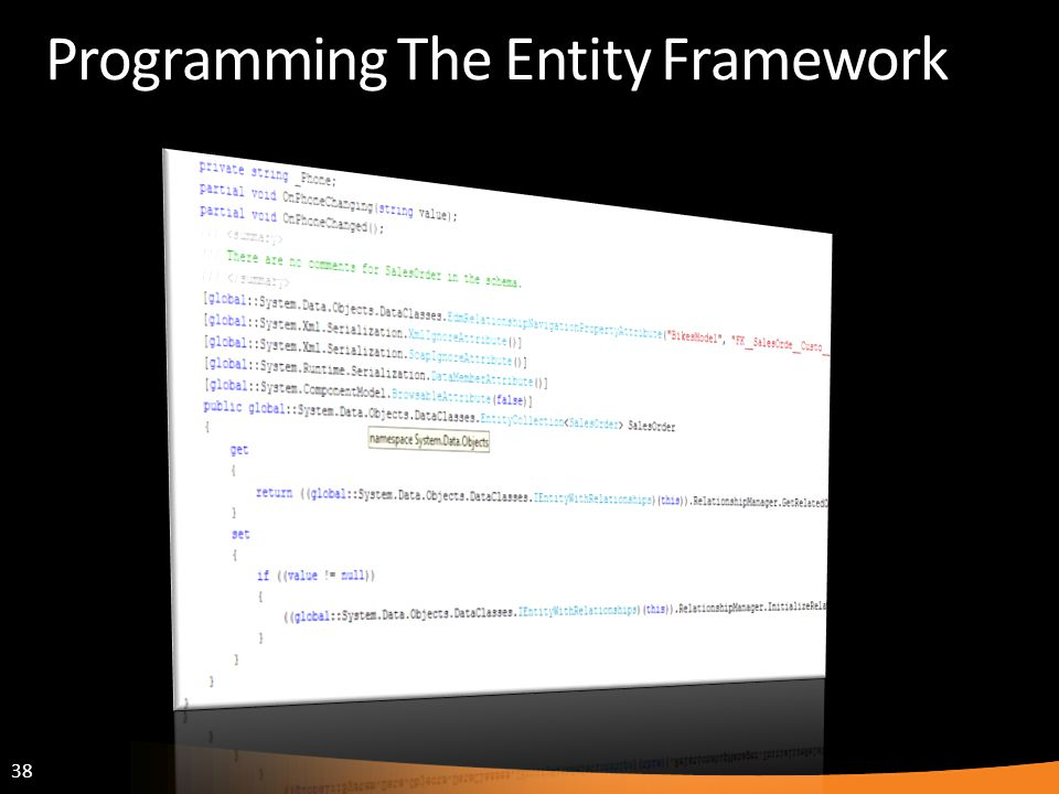 Programming The Entity Framework