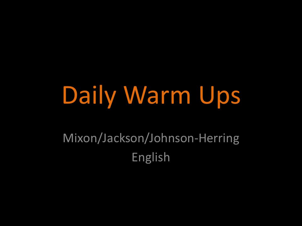 Mixon/Jackson/Johnson-Herring English
