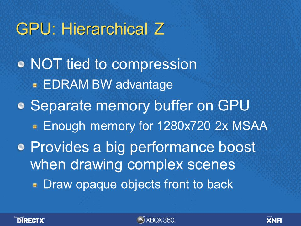 GPU: Hierarchical Z NOT tied to compression