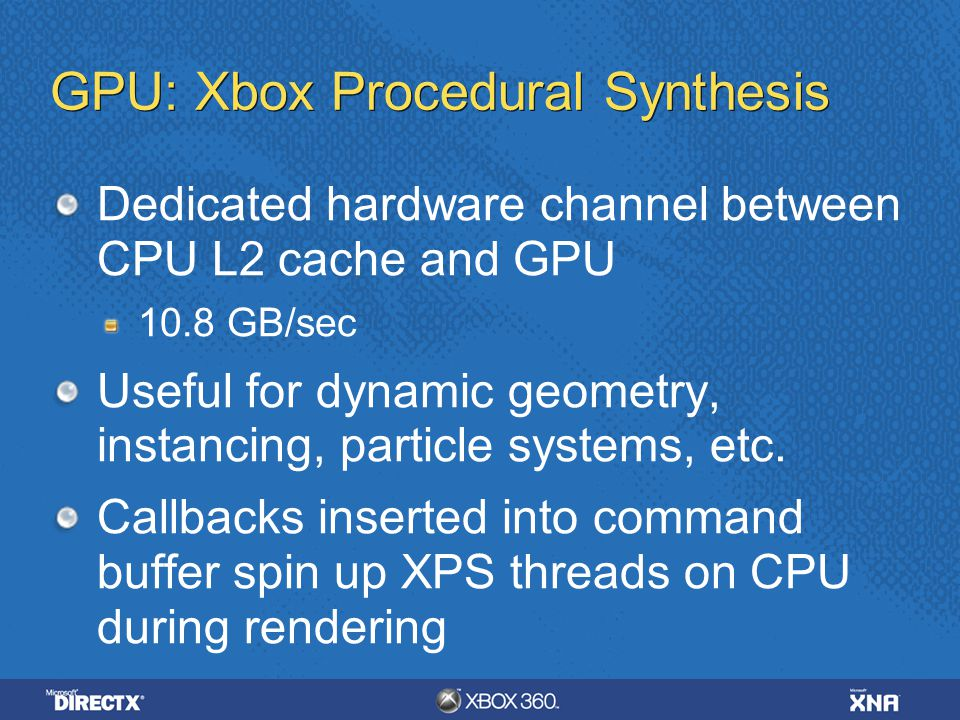 GPU: Xbox Procedural Synthesis