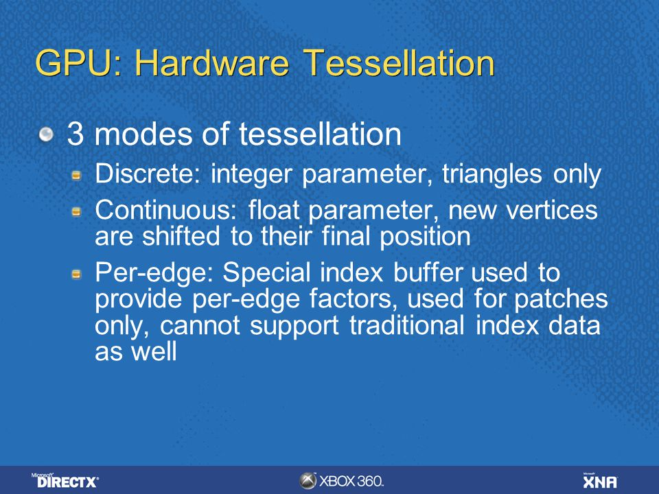 GPU: Hardware Tessellation