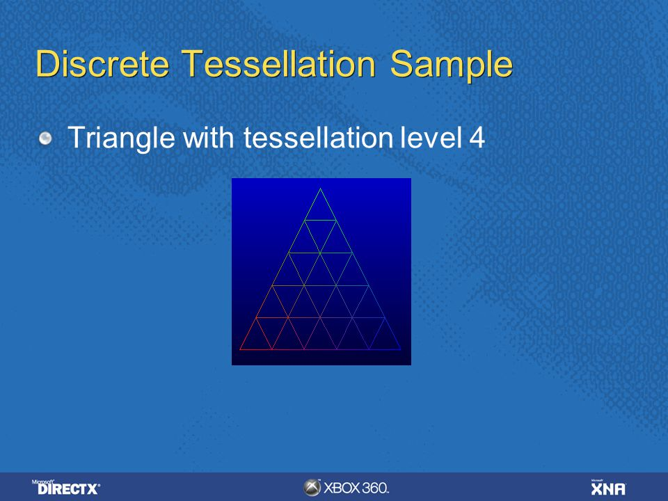 Discrete Tessellation Sample