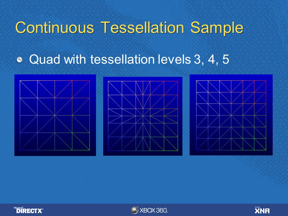Continuous Tessellation Sample