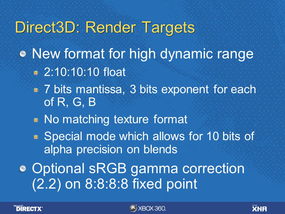 Direct3D: Render Targets