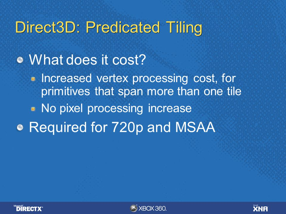 Direct3D: Predicated Tiling