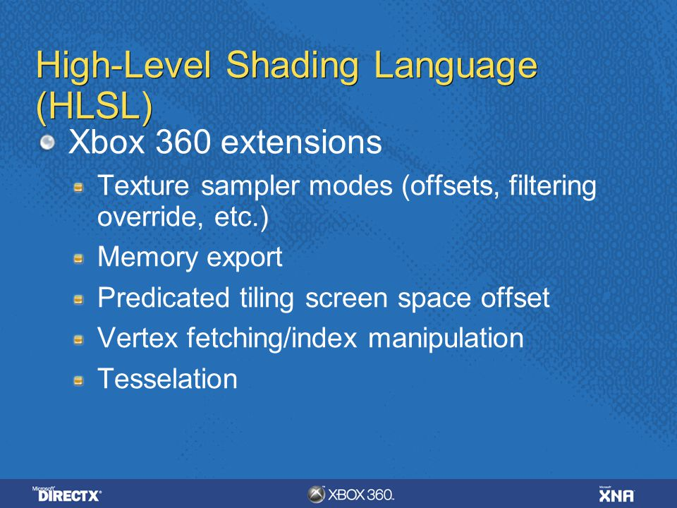 High-Level Shading Language (HLSL)